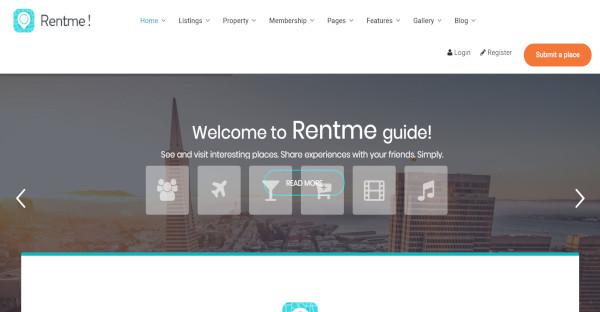 rentme king composer wordpress theme