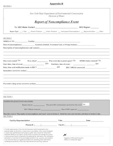 report-of-noncompliance-event