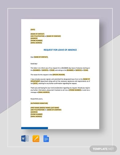 request-for-leave-of-absence-template