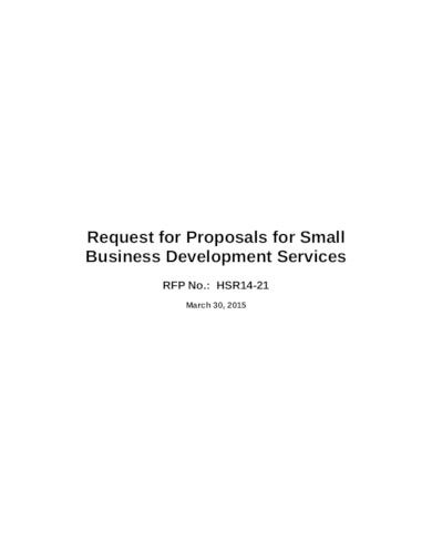 request proposal for small business