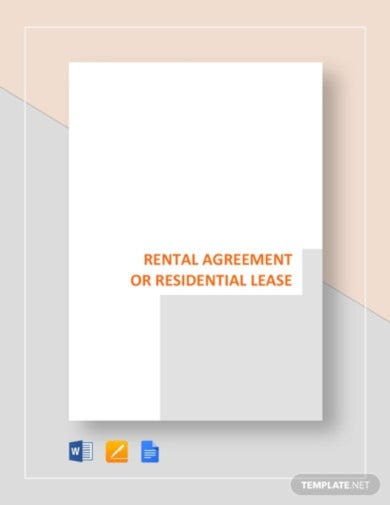 residential lease tenant agreement template