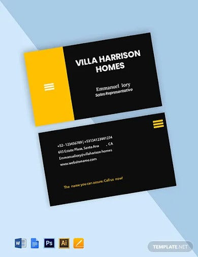 residential realtor business card template