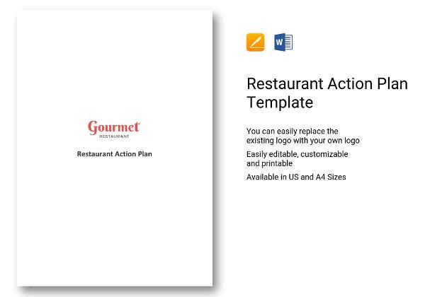 restaurant action plan format