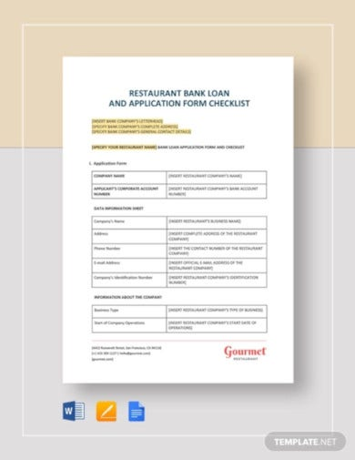 restaurant-bank-loan-and-application-form-checklist