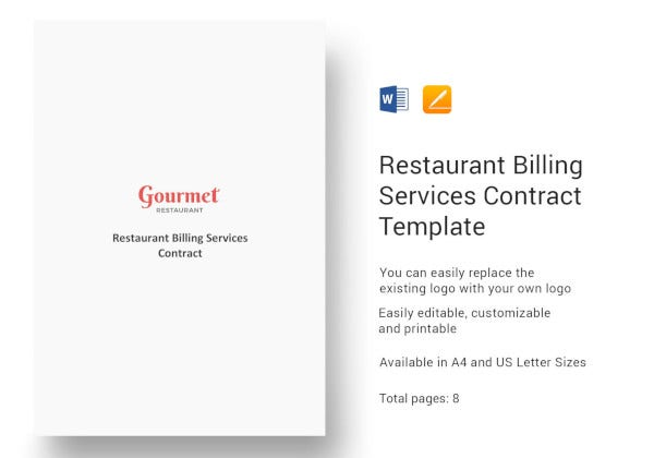 restaurant-billing-services-contract-template