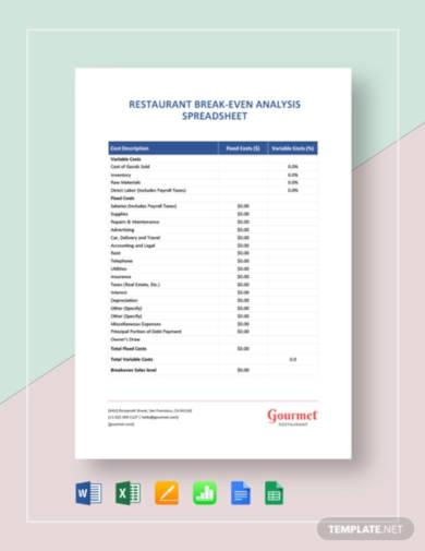 restaurant-break-even-analysis-spreadsheet