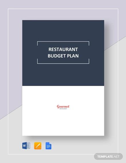 restaurant budget plan template1