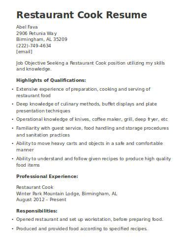 restaurant-cook-resume-template