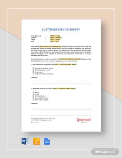 restaurant-customer-service-survey-template