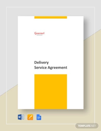 restaurant delivery service agreement template