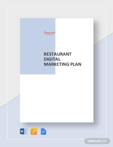 restaurant digital marketing plan template