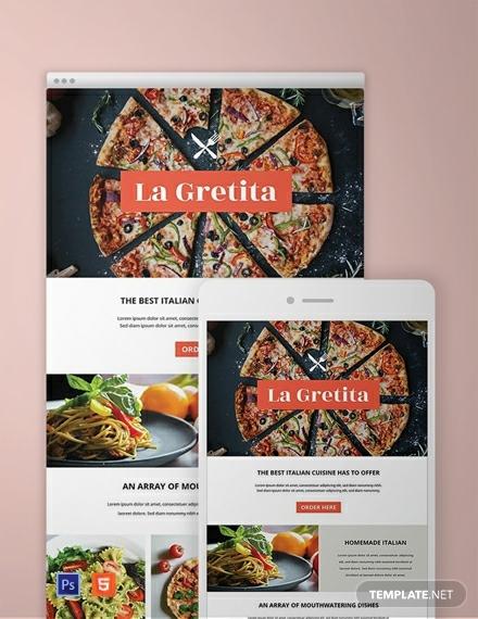 restaurant email newsletter template1