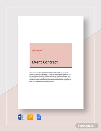 restaurant-event-contract-template