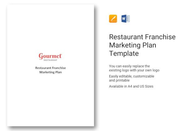 restaurant franchise marketing plan template