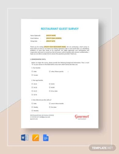 restaurant-guest-survey-template