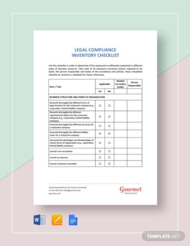 restaurant-legal-compliance-inventory-checklist