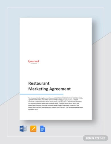 restaurant-marketing-agreement-template