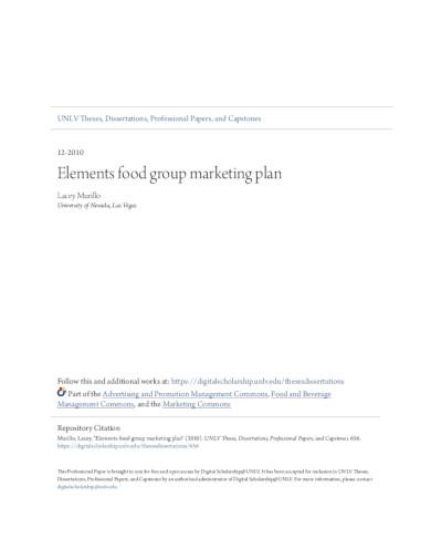 restaurant marketing plan template in pdf