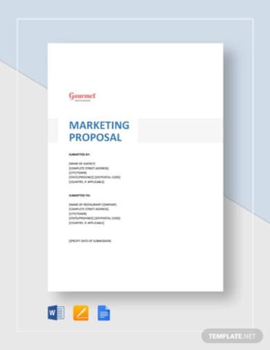 restaurant marketing proposal
