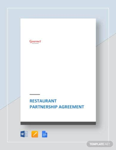 restaurant partnership agreement