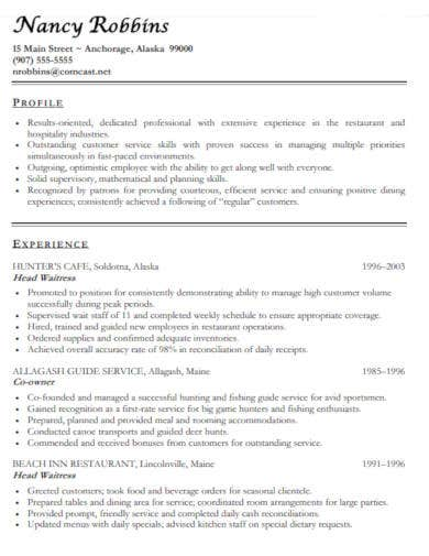restaurant-resume-example