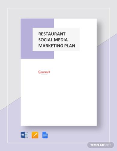 restaurant social media marketing plan template