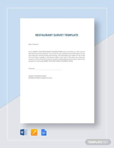 restaurant-survey-template