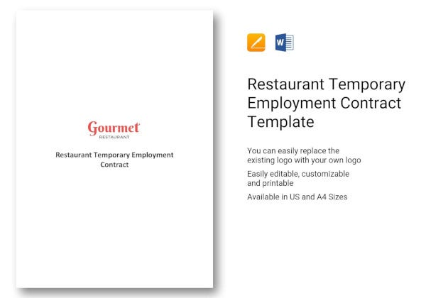 restaurant-temporary-employment-contract-template