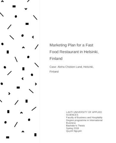 restaurant marketing plan template example