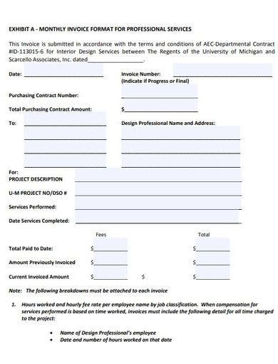 reusable hourly invoice template