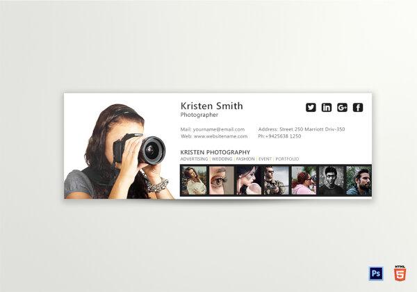 reusable photographer email signature template