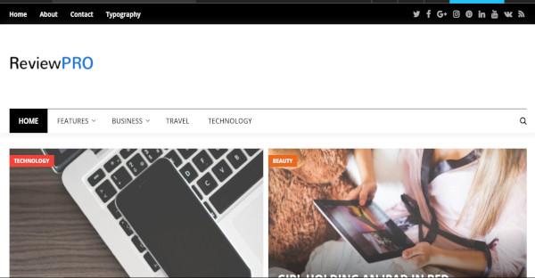 review pro auto scrolling slideshow wordpress theme