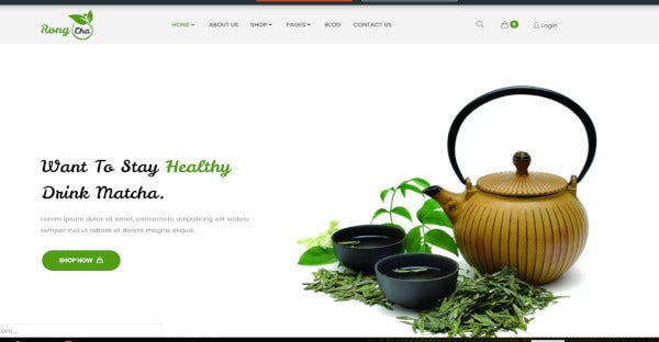 Rongcha – Translation Ready WordPress Theme
