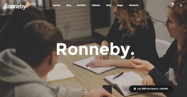 ronneby seo friendly wordpress theme