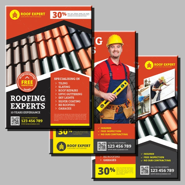 roof expert services flyer template