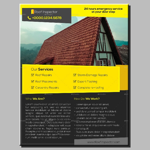 roof inspection services flyer sample