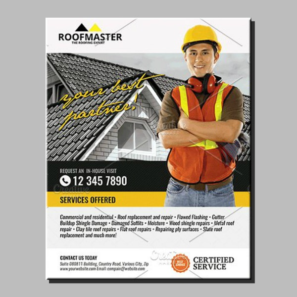 roof master services flyer sample