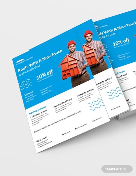 roofing service business flyer layout