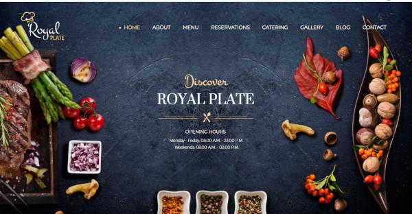 royal plate – typography wordpress theme