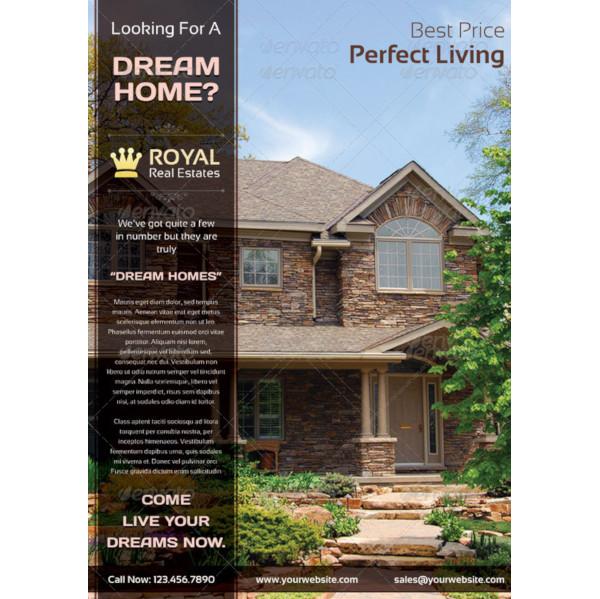 royal real estate marketing flyer