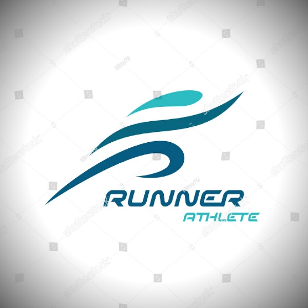 runner athlete sports logo layout