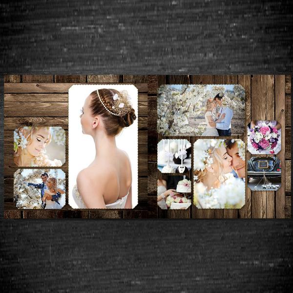 rustic theme wedding photobook example