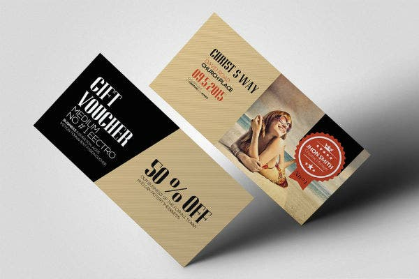 rustic travel gift voucher template