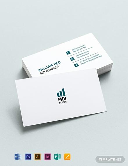 seo marketing business card template