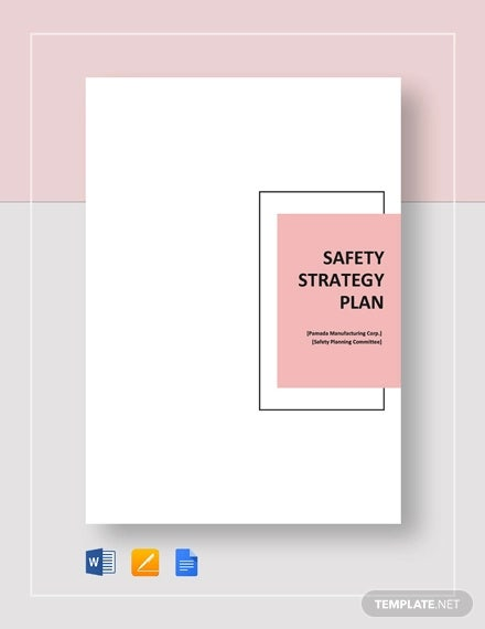 safety strategy plan template