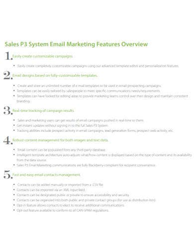 sales email marketing template