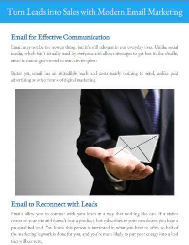 sales with email marketing sample