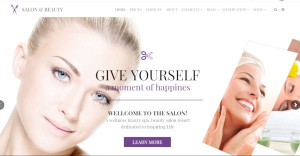 Salon & Beauty - One-Click Demo WordPress Theme