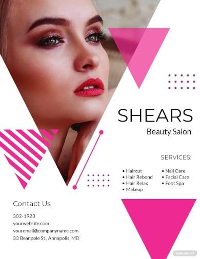 salon opening flyer template