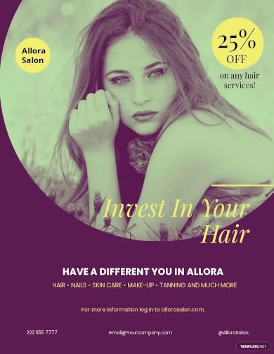salon promotional flyer template